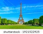 Paris Eiffel Tower And Champ De ...