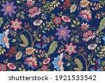 fantasy flowers in retro ... | Shutterstock .eps vector #1921533542