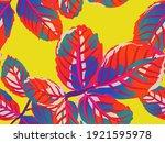 rose leaves seamless pattern....   Shutterstock .eps vector #1921595978
