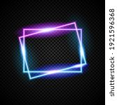 glowing neon vectord frame with ...   Shutterstock .eps vector #1921596368