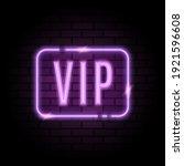 vector purple neon frame with... | Shutterstock .eps vector #1921596608