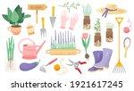 garden tool set. vector...   Shutterstock .eps vector #1921617245