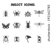 insect icons  mono vector... | Shutterstock .eps vector #192162785