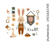 poster with bohemian baby boy... | Shutterstock .eps vector #1921631705