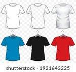 tshirt mockup vector... | Shutterstock .eps vector #1921643225