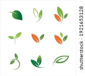 leaves icon vector set isolated ...   Shutterstock .eps vector #1921653128