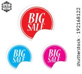 big sale colorful circle... | Shutterstock .eps vector #192168122