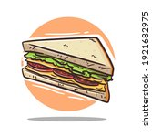 sandwich vector illustration... | Shutterstock .eps vector #1921682975