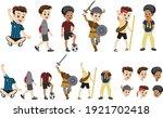 set of children cultural vector | Shutterstock .eps vector #1921702418