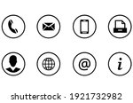 set of contact buttons icon.... | Shutterstock .eps vector #1921732982