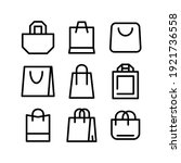 bag icon or logo isolated sign... | Shutterstock .eps vector #1921736558