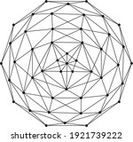 Wireframe Polygonal Element. 3d ...