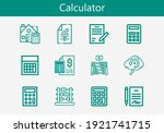 premium set of calculator line...