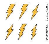 set of lightning bolt vector... | Shutterstock .eps vector #1921748258