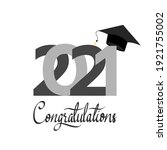 2021 congratulations with... | Shutterstock .eps vector #1921755002