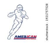 american football player... | Shutterstock .eps vector #1921757528