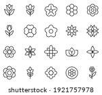 flower line icon set.... | Shutterstock .eps vector #1921757978