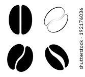 coffee bean icon  vector | Shutterstock .eps vector #192176036
