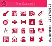 the business icon set. 20...
