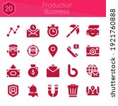 production business icon set....