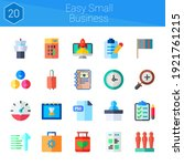 easy small business icon set....