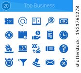 top business icon set. 20...