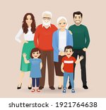 big happy family with... | Shutterstock .eps vector #1921764638