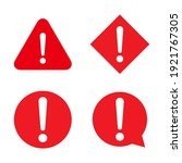 set of hazard warning  warn... | Shutterstock .eps vector #1921767305