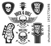 set of rock and roll emblems....   Shutterstock .eps vector #1921773698
