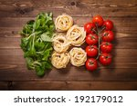 italian flag of greens  pasta... | Shutterstock . vector #192179012