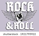 stay true love rock and roll...   Shutterstock .eps vector #1921795922