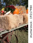 Hay Wagon At Harvest Time