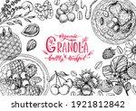 granola illustration. oat... | Shutterstock .eps vector #1921812842