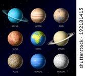 planets of solar system. vector. | Shutterstock .eps vector #192181415