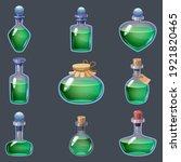 set of magic bottles liquid... | Shutterstock .eps vector #1921820465