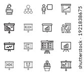 set presentation icon in...   Shutterstock .eps vector #1921838675