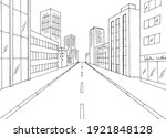 city street graphic black white ... | Shutterstock .eps vector #1921848128