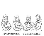 continuous line drawing of... | Shutterstock .eps vector #1921848368