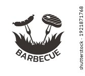 bbq grill logo or icon.... | Shutterstock .eps vector #1921871768