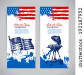 banners of 4th july backgrounds ... | Shutterstock .eps vector #192187952