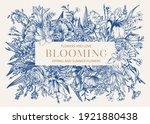 Floral Frame. Blooming. Iris ...