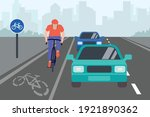 urban traffic road lane with... | Shutterstock .eps vector #1921890362