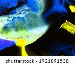 neon blue and yellow creative... | Shutterstock . vector #1921891538