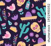 cinco de mayo seamless pattern...   Shutterstock .eps vector #1921900352