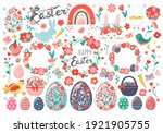 Hand Drawn Set Of Easter Eggs ...