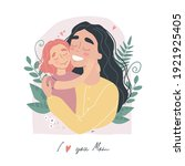 mothers day greeting card. i... | Shutterstock .eps vector #1921925405
