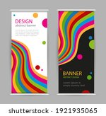 set roll up with bright rainbow ... | Shutterstock . vector #1921935065
