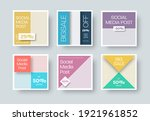 vector square post for social... | Shutterstock .eps vector #1921961852
