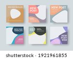 vector square post for social... | Shutterstock .eps vector #1921961855