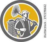 illustration of a chimney sweep ... | Shutterstock .eps vector #192198662
